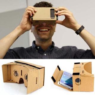 DIY Google Cardboard虛擬現實VR手機3D眼鏡