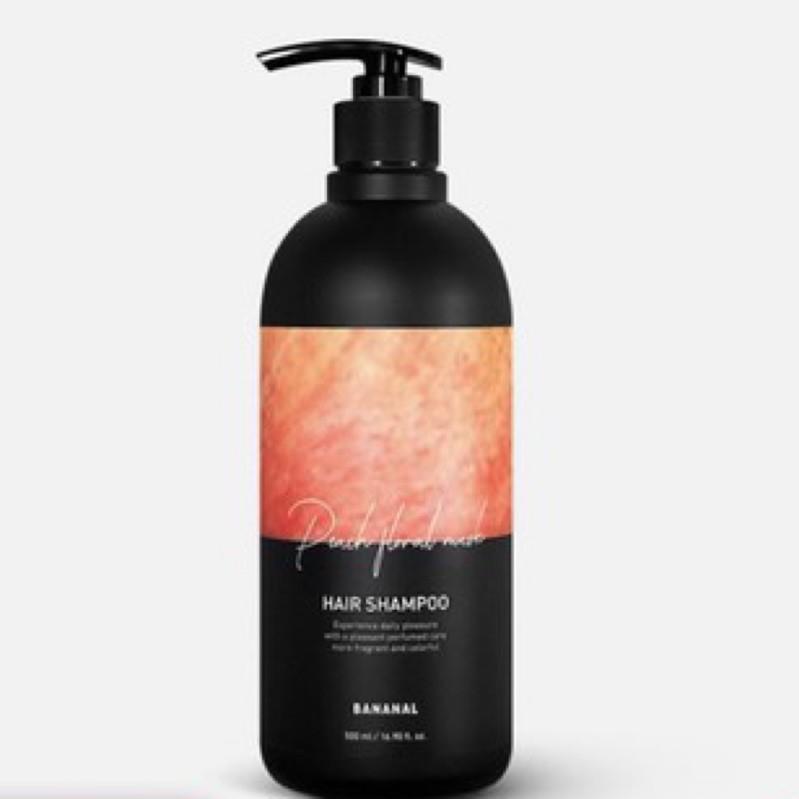 (二手)BANANAL 韓國氨基酸香氛潤髮乳 蜜桃杉木