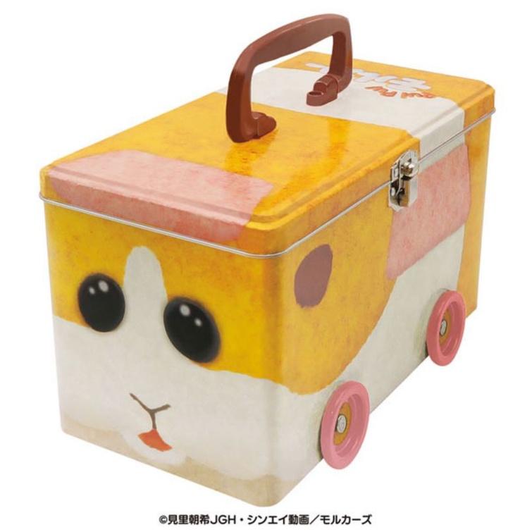 日本天竺鼠車車 馬鈴薯車車手提鐵盒 天竺鼠車車手提收納盒手PUIPUIモルカー缶 日本限定品