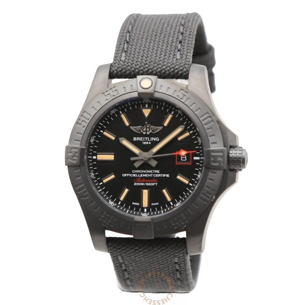 【BREITLING 百年靈】AVENGER BLACKBIRD 44 復仇者黑鳥偵察機腕錶
