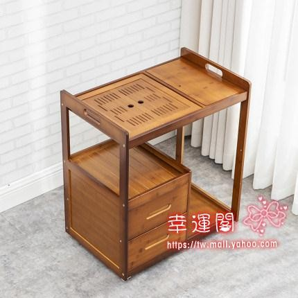 抽屜式行動竹茶車大號茶桌家用茶盤陽台小茶台茶具套裝客廳茶水櫃
