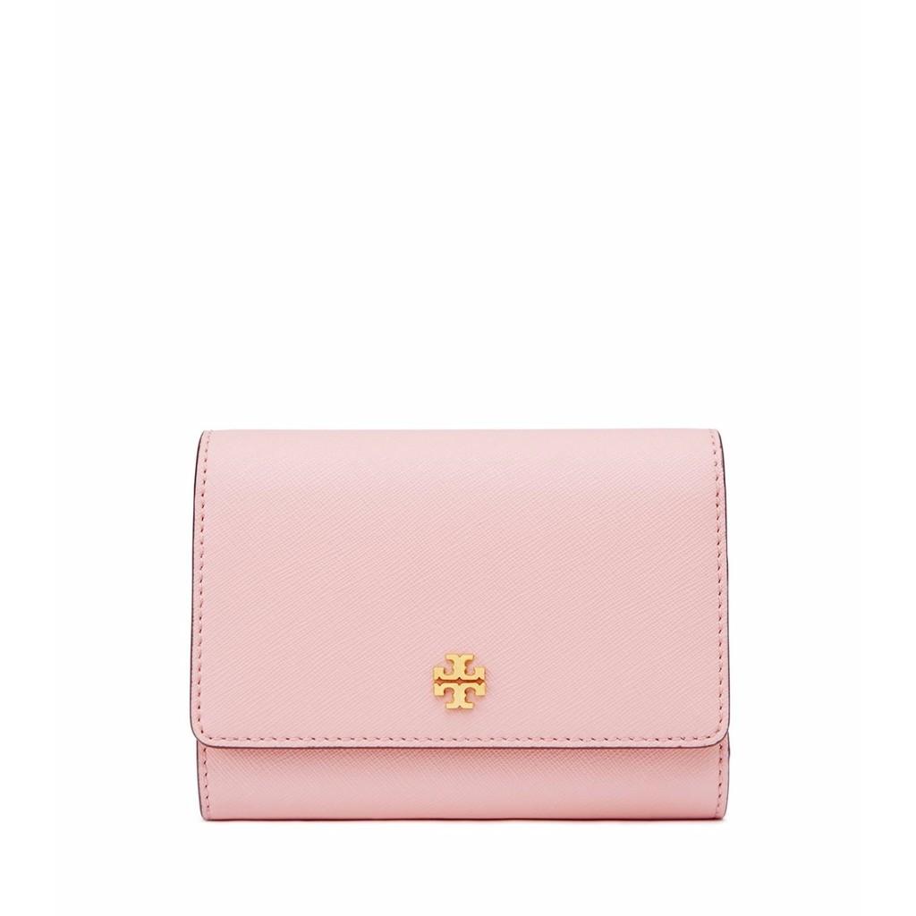 美國 TORY BURCH robinson 新款LOGO 超粉嫩可愛粉紅 三折 中夾 -另有多色