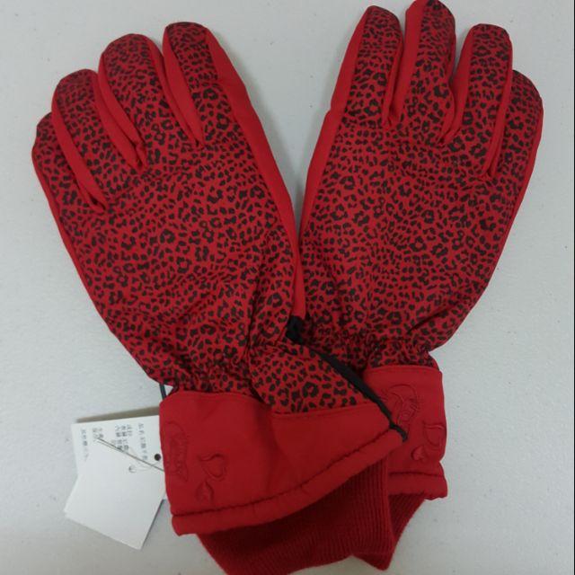 🎀Bonita  紅色豹紋手套