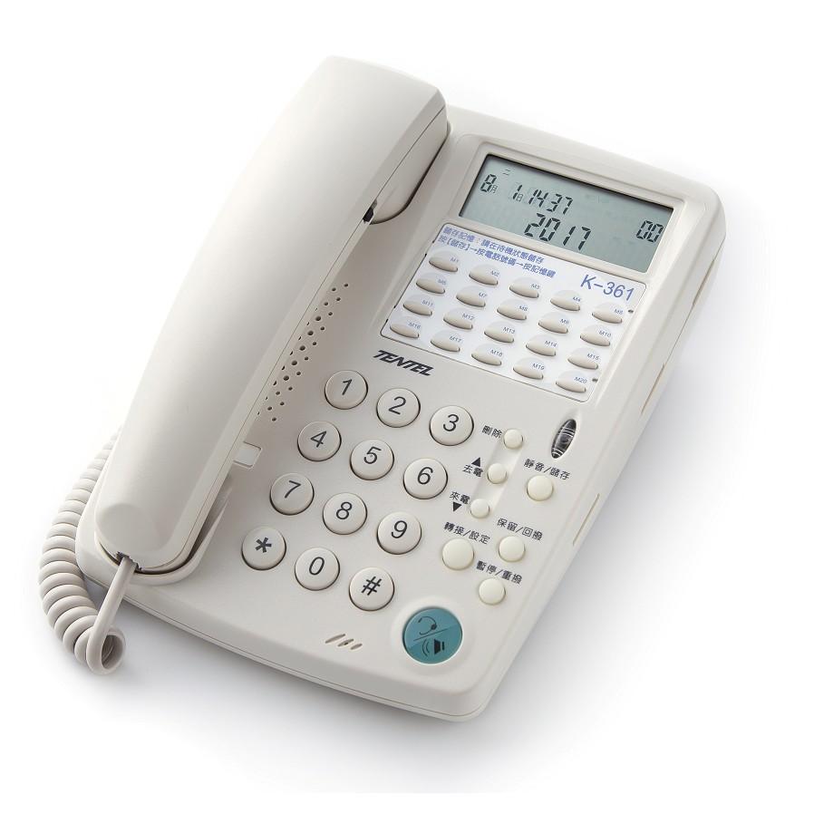 【仟晉資訊】國洋通信K362多功能來電顯示電話機 20組記憶鍵 來電顯示耳機型話機 台灣製造電話 另售專用電話耳麥