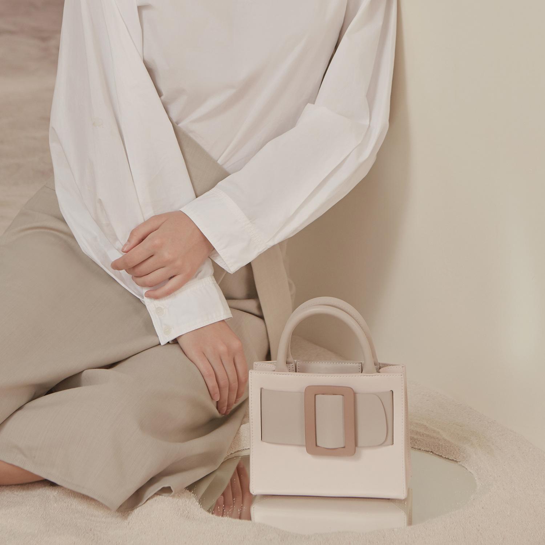 【免運現貨】小包包女小眾設計奶油蛋糕托特包2020新款氣質手提包斜挎小方包潮