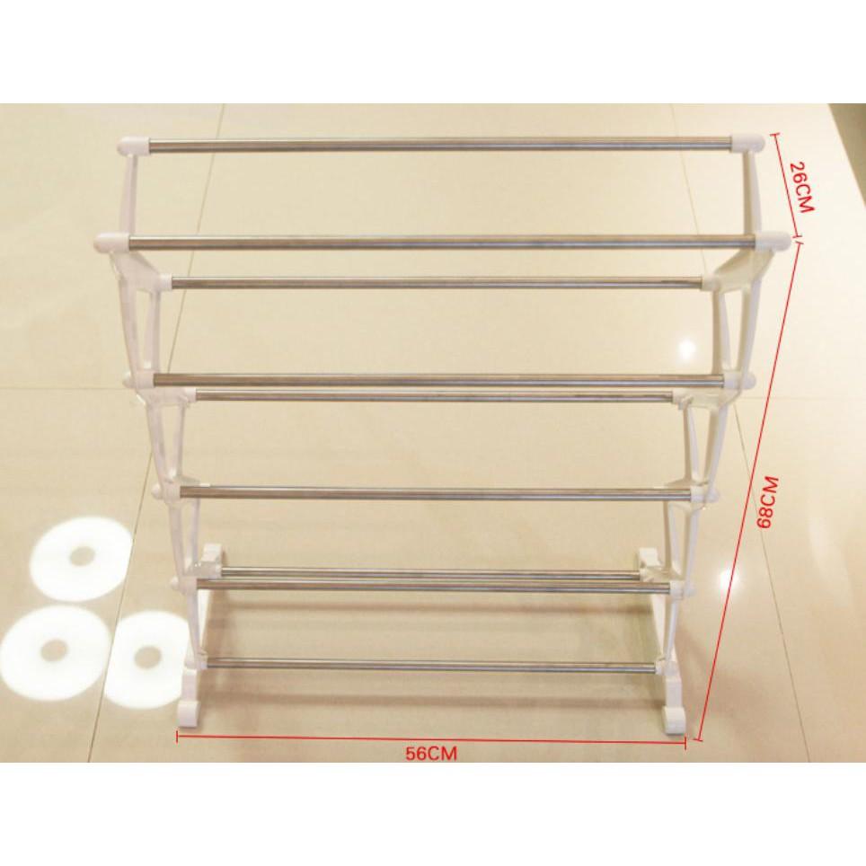 #AF017 #簡易五層DIY不銹鋼塑料鞋架、鞋櫃