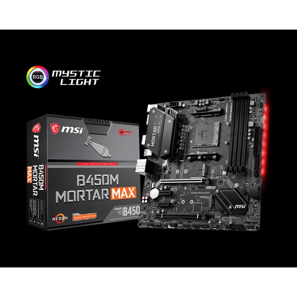 【全新盒裝】MSI 微星 B450M MORTAR MAX DDR4 AM4 M-ATX 台灣公司貨 五年保