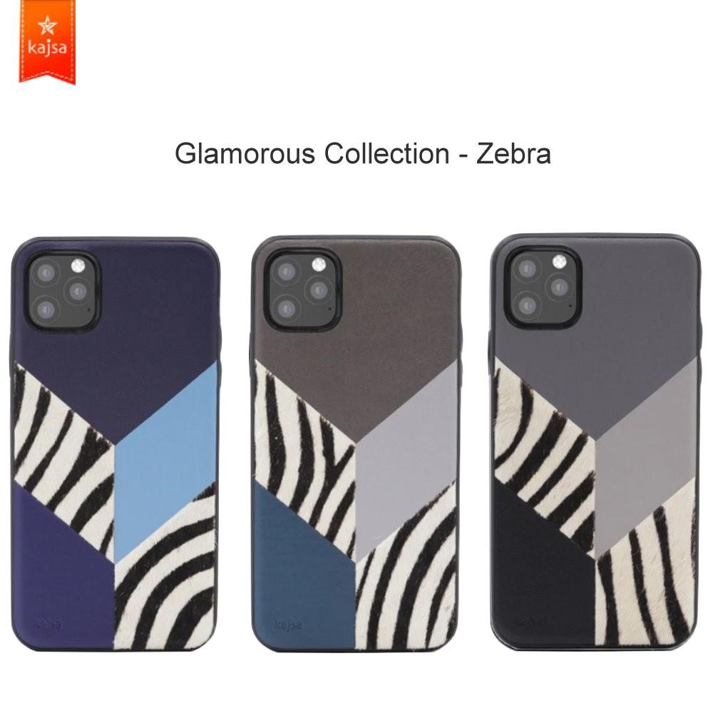 kajsa【iPhone 11 Pro Max 6.5吋】時尚斑馬拼接背蓋