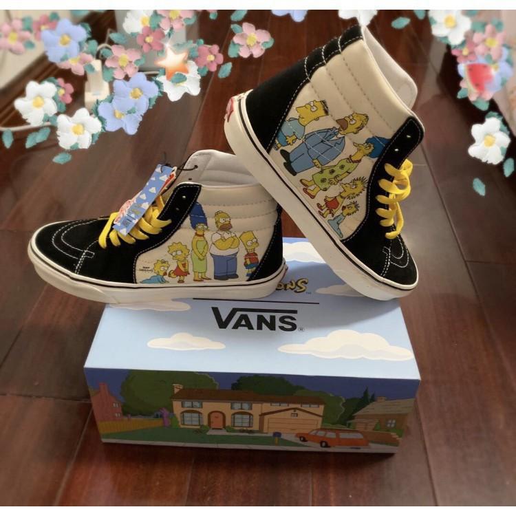 正品 The Simpsons x Vans x Vans Sk8-Hi 黑白 高幫 現貨 VN0A4BV617E