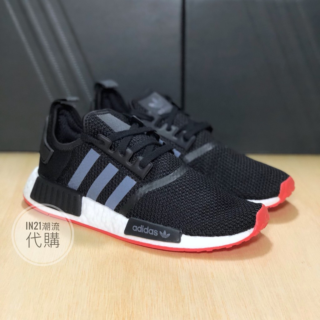 timeless design f677f 1d2cc [IN21] ADIDAS NMD R1 Carbon Black Red 碳黑紅 CQ2413