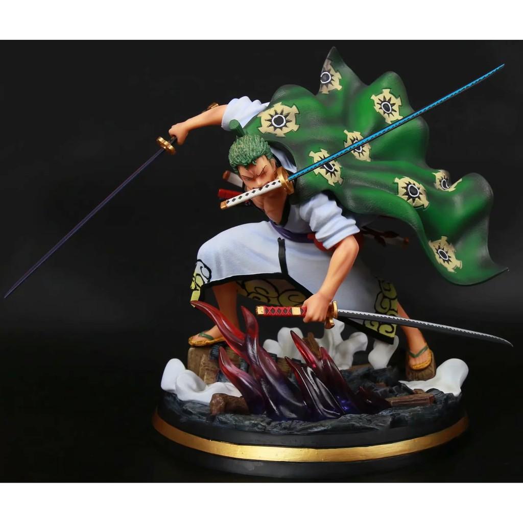 《ONLY TOY》海賊王 索隆 十郎 和之國 和服 三刀流 特效場景 高約30公分
