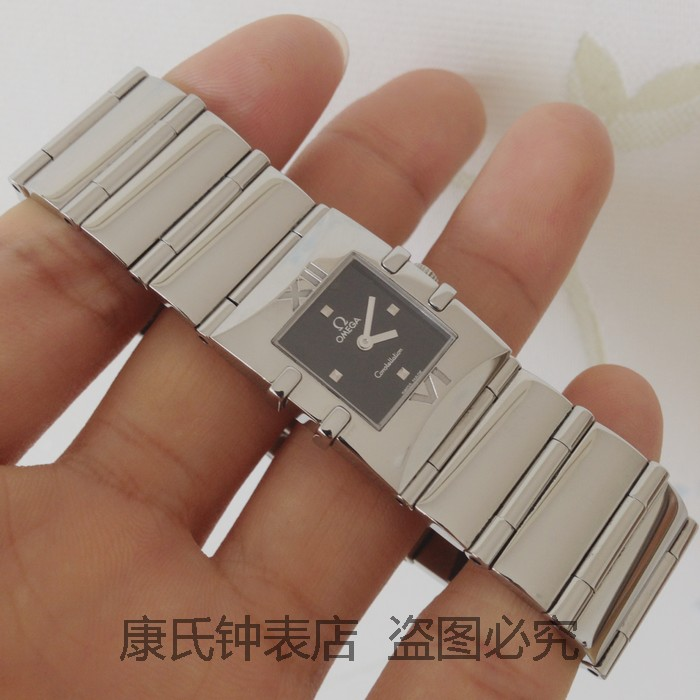 ◤奢侈手錶◢歐米茄星座女錶石英1521.41.00二手錶瑞士原裝正品98新女士腕錶