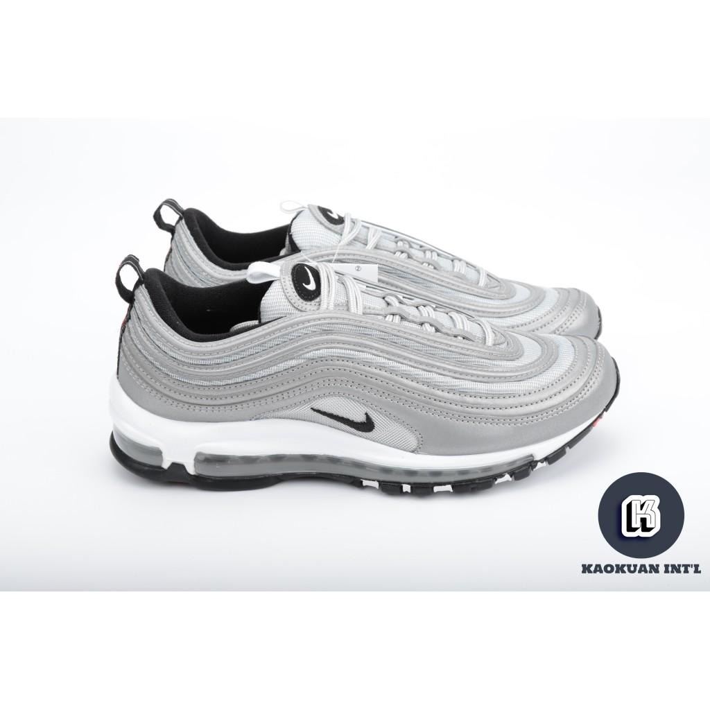 new product a3899 d462e Nike air max 97 PREMIUM SILVER 3M 反光 銀彈 黑勾 312834 007【高冠國際】