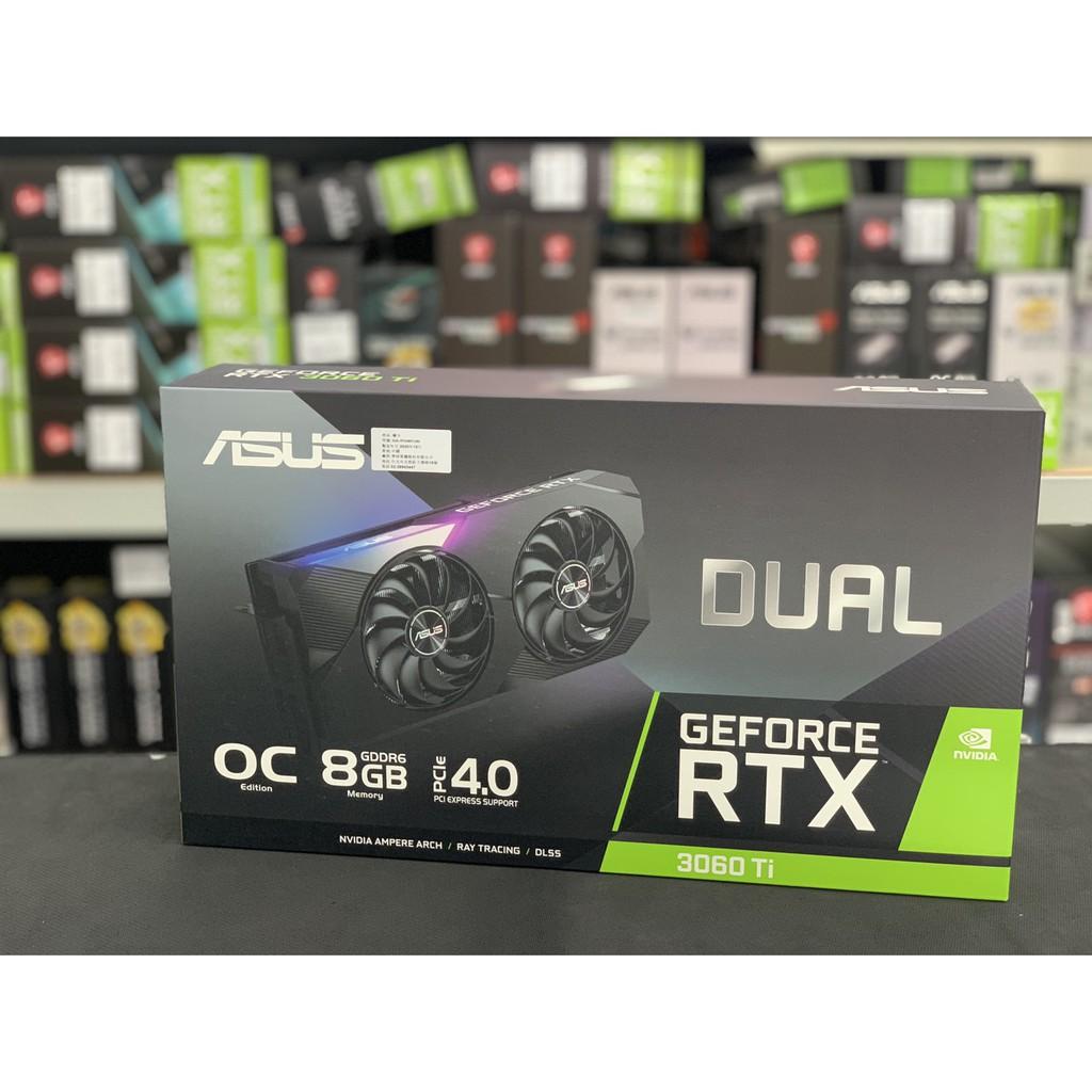華碩 DUAL-RTX3060Ti-O8G(1740MHz/26.9cm/雙風扇)