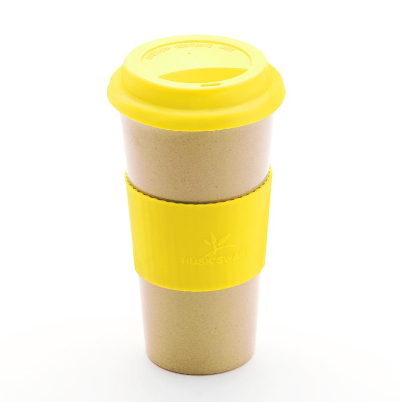 【美國Husk'sWare】稻殼極簡咖啡隨手杯/檸檬黃