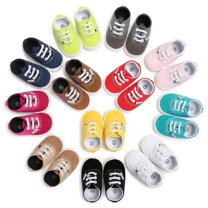 童鞋 寶寶鞋0-1歲男女膠底防滑休閒學步鞋嬰兒學步鞋鞋帶包頭寶寶必備 嬰兒鞋 學步鞋
