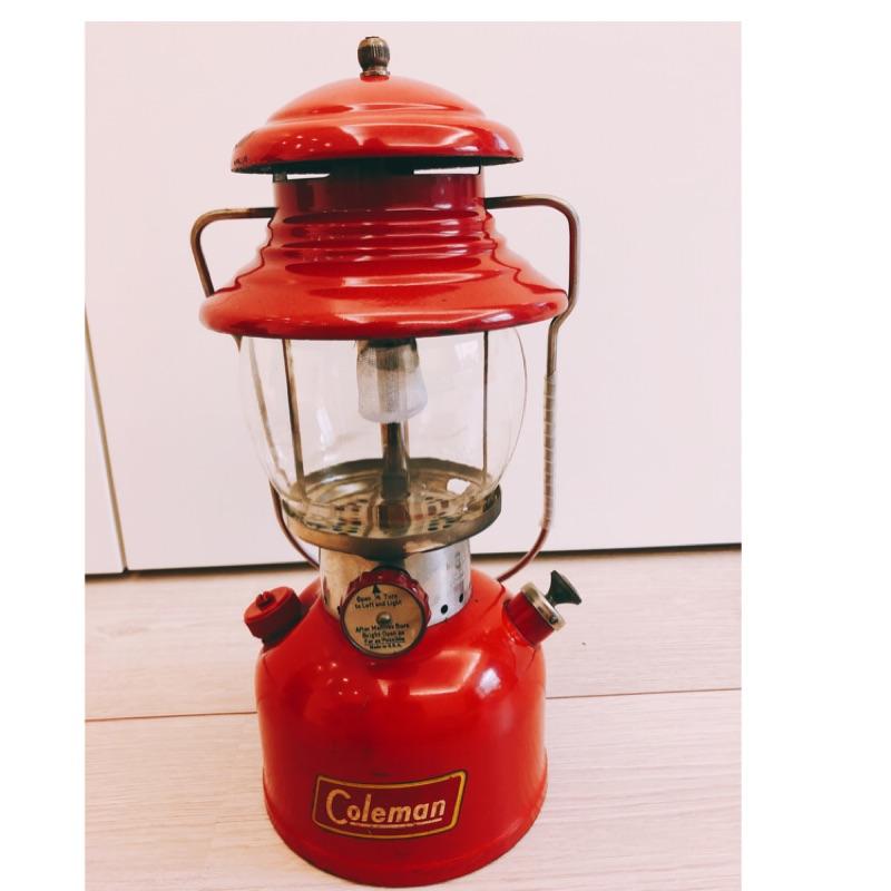 Coleman 200A 小紅帽 汽化燈不銹鋼提把原廠鉻玻璃燈罩 附攜行袋+燈芯(林口自取)