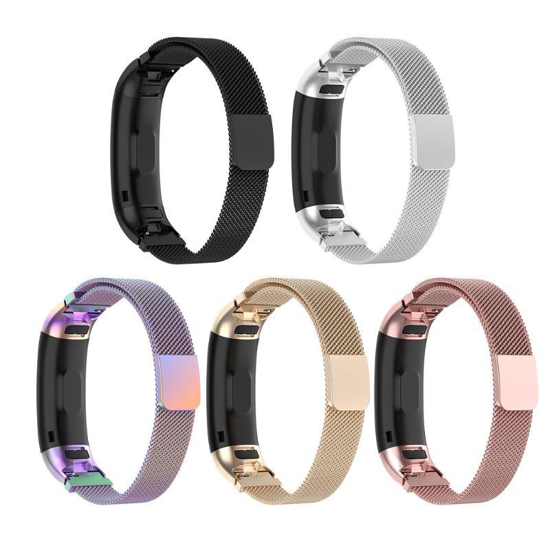HOTE 適用於華為 Band 3 / Band3 Pro TER-B09 TER-B29 手鍊的磁性不銹鋼替換錶帶