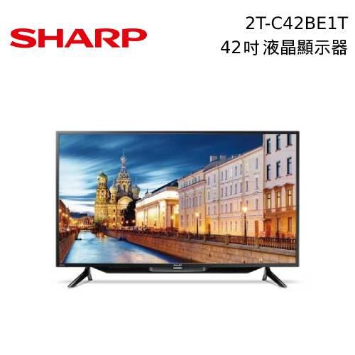SHARP 夏普 42吋 直下式LED液晶顯示器 2T-C42BE1T 不含基本安裝【領券再折】