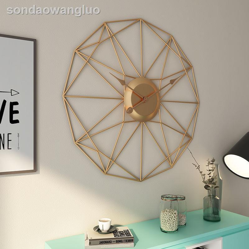 ♟❈藝術掛鐘異形客廳裝飾鐘表北歐風格現代簡約時鐘金屬創意家用掛表