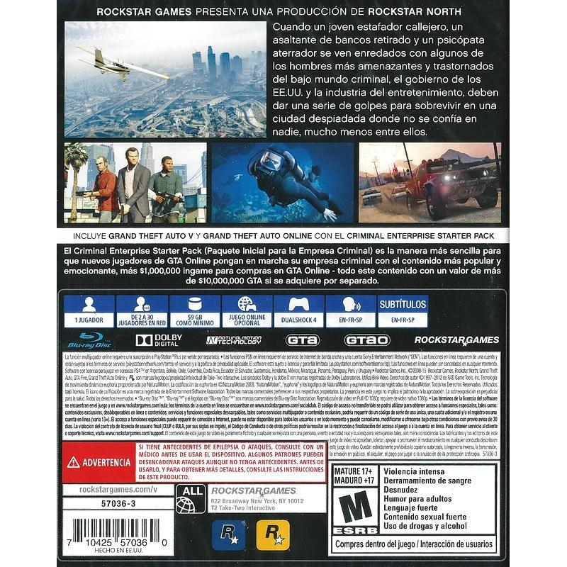 [孩子%玩具]【二手遊戲】PS4 俠盜獵車手5 GRAND THEFT AUTO V 5 GTA5 PREMIUM 豪華