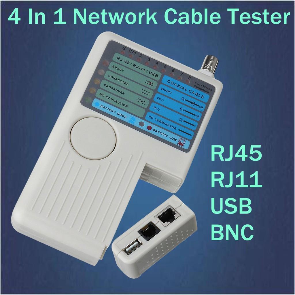 4合1多功能網路測試儀電話線+網線+BNC同軸電纜+USB測線器