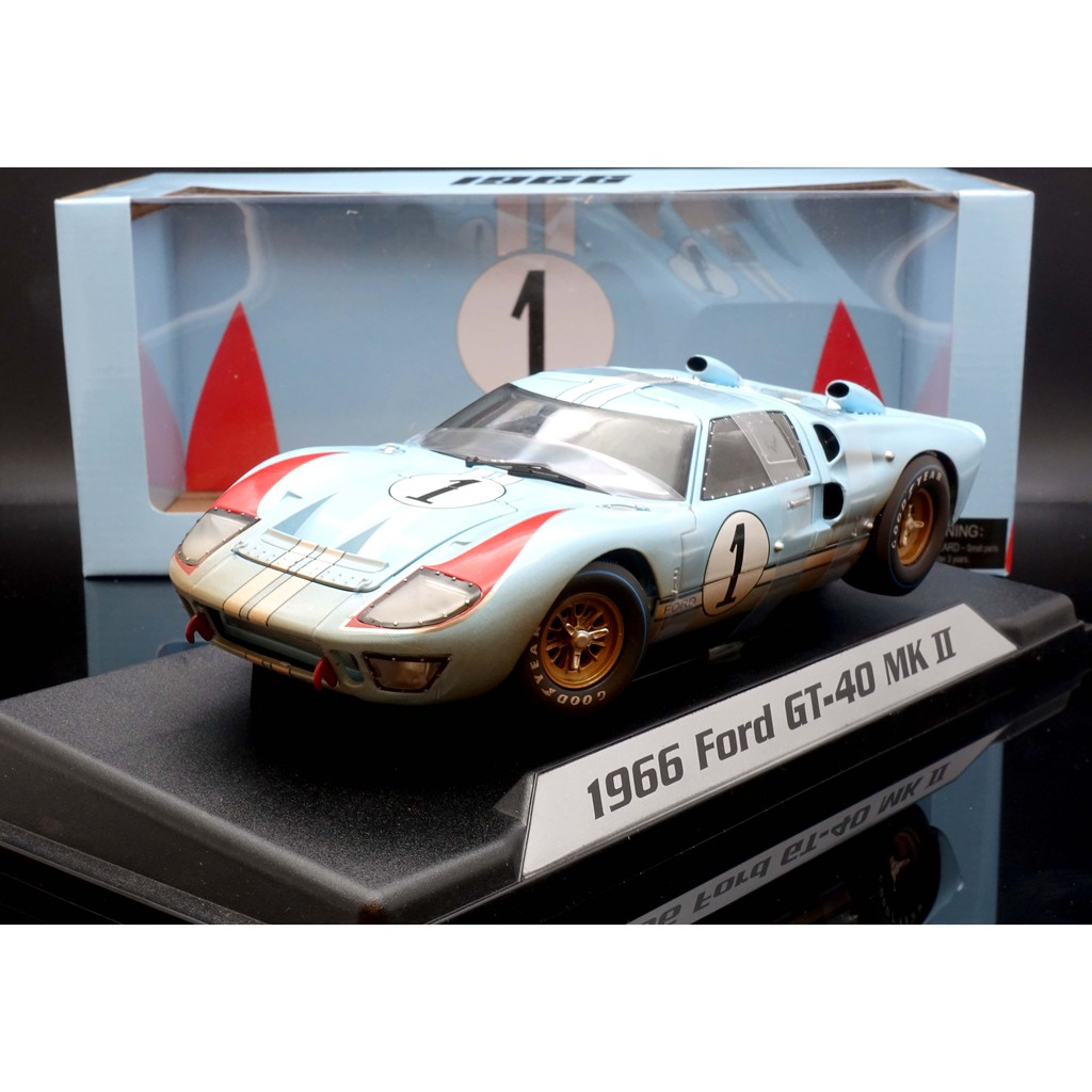Shelby Collection 1/18 Ford GT40 #1 1966 髒污版 MASH