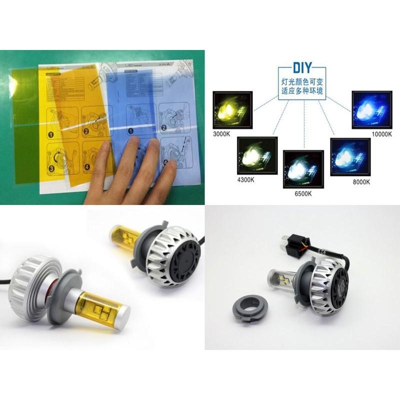 最新貼膜款(HS1) H4 H7 CREE*3 LED大燈 3000K 4300K 6000K 8000K10000K