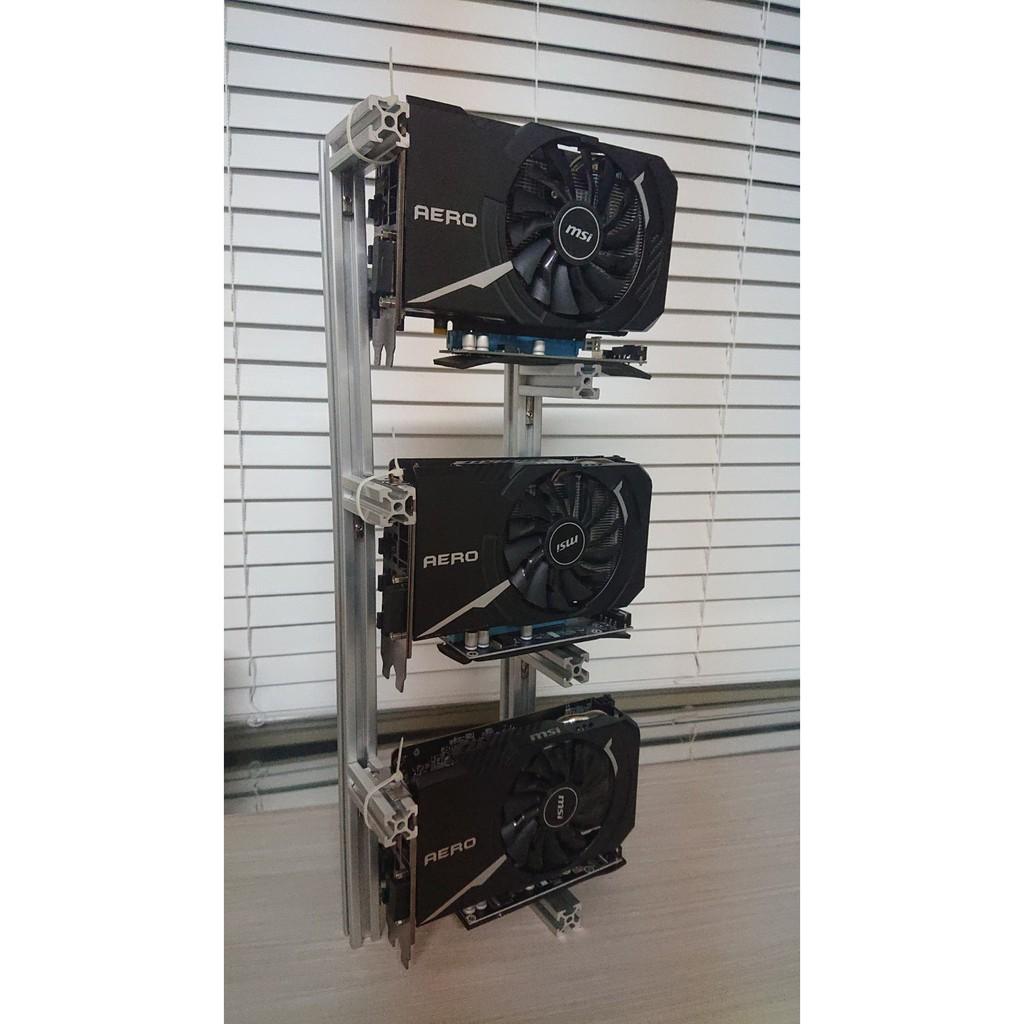 [現貨]鋁合金3卡礦機架 散熱好 比特幣  Nvidia 3060 3070 3080 AMD RX 6800 6900