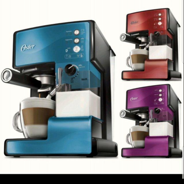 美國OSTER 奶泡大師義式咖啡機PRO升級版 咖啡橘色 二手近全新因換全自動故出售