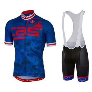 2021新款蝎子castelli夏季騎行服短袖套裝男自行車公路山地車單車服裝衣服裝備騎行服套裝高彈短袖競技修身單車服