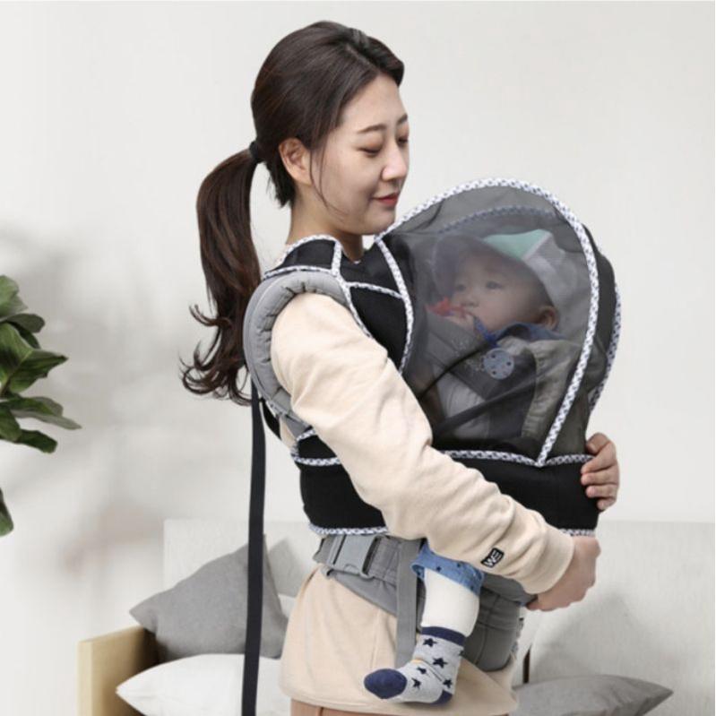 預購韓國直送🇰🇷[大寶寶防疫神器] 100% 韓國製造 大寶寶超實用背帶式防護罩 揹巾罩 寶寶口罩 嬰兒口罩