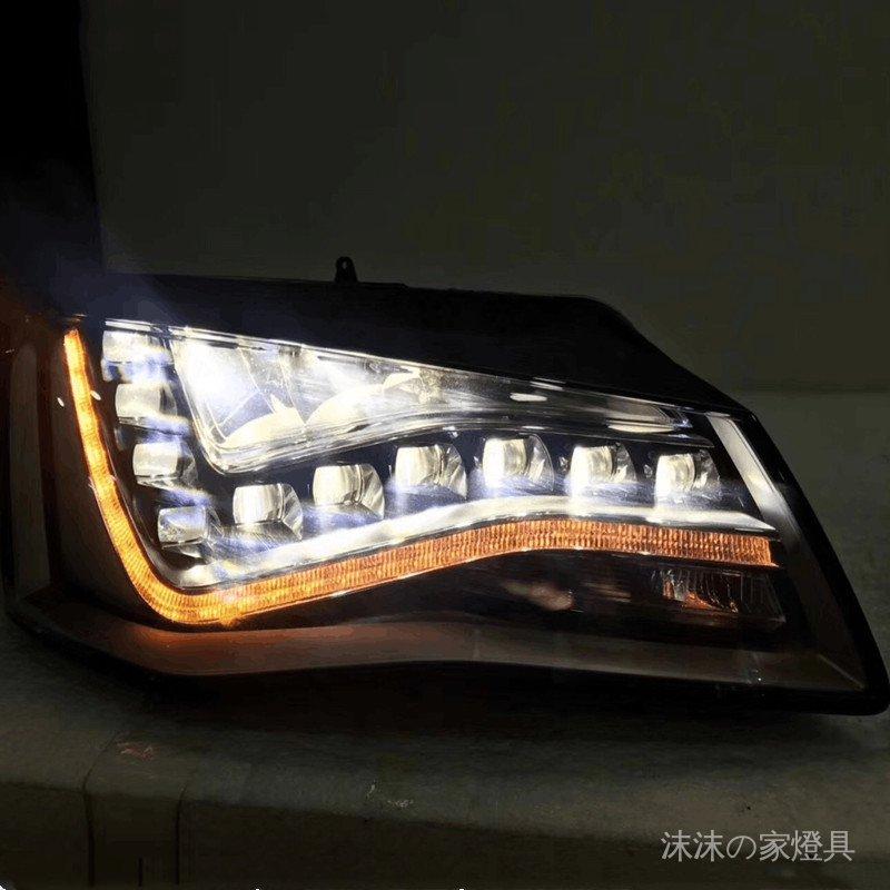 #拆車件 適用奧迪A6龍珠車燈A8 A6L原裝LED大燈總成C7老款升級新款拆車件