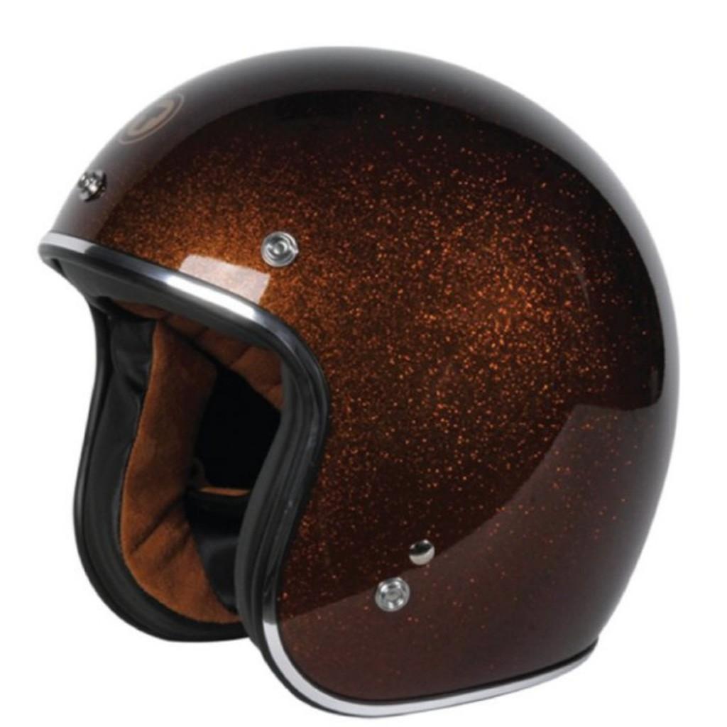 TORC T-50 Superflake系列 亮片騎士帽/金粉棕/3/4罩半罩/DOT認證/美式安全帽