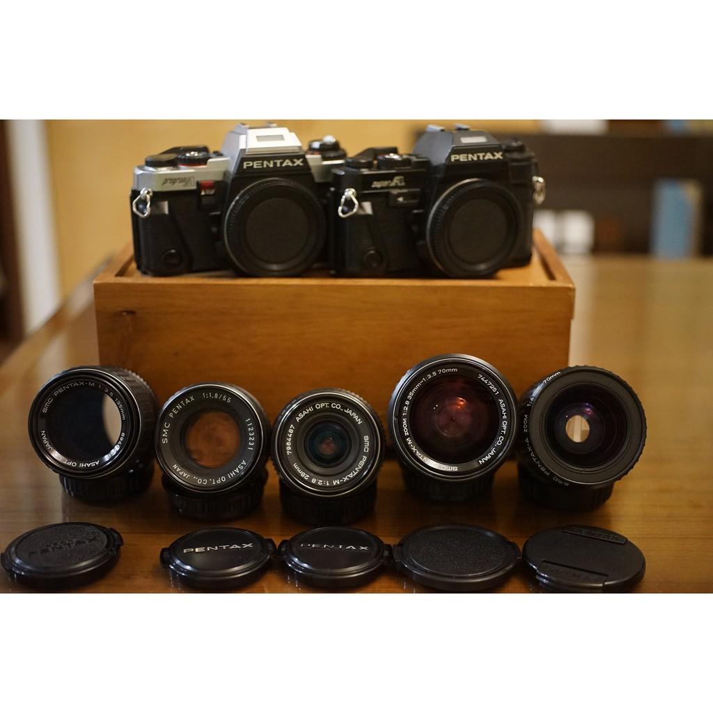 剛保養 Pentax Super A 次旗艦底片機加購SMC 55mm 28mm 135mm 35-70mm旅遊鏡