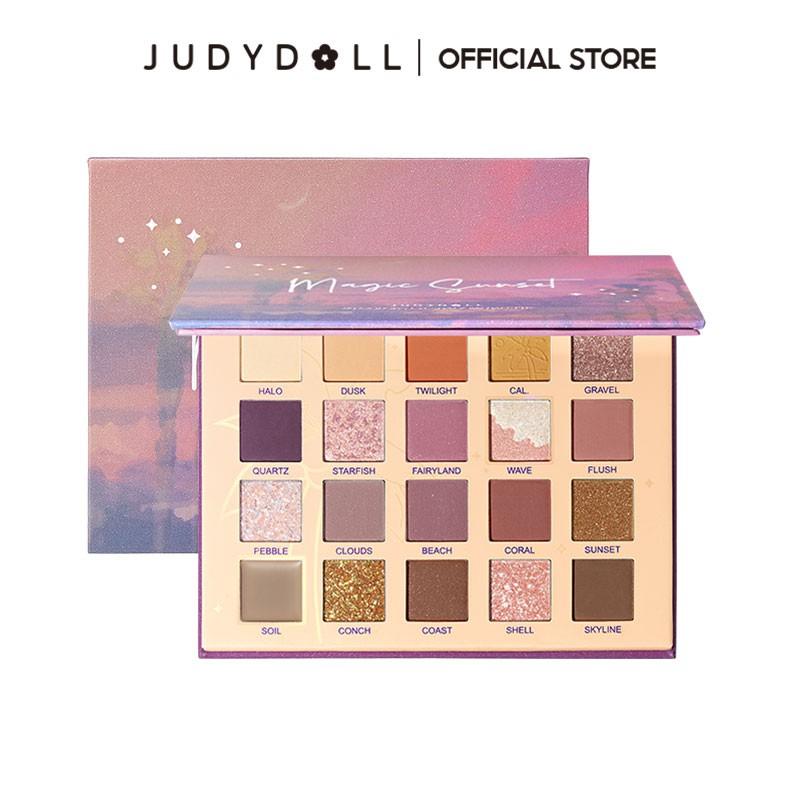 Judydoll橘朵加州日落二十色眼影盤啞光珠光細閃