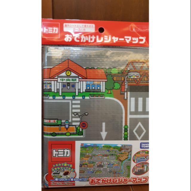 TAKARA TOMY TOMICA 日本製 Tomica 多美車 汽車地圖 地墊 遊戲墊 攜帶式 城鎮地圖 城市
