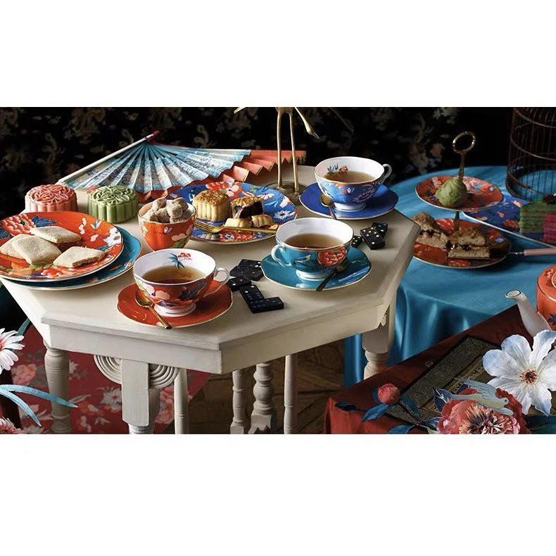 🛍️🎉四杯四碟套裝‼️英國WEDGWOOD骨瓷 嫣紅牡丹杯套碟原裝正品