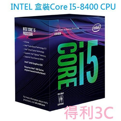 INTEL 盒裝 I5-8500 / I5-8600 / i5-9400F / I5-9400 / I5-10400F