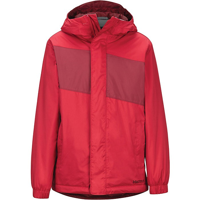 Marmot PreCip Eco Jacket - Boy's, Team Red/Brick 男童 防水透氣外套