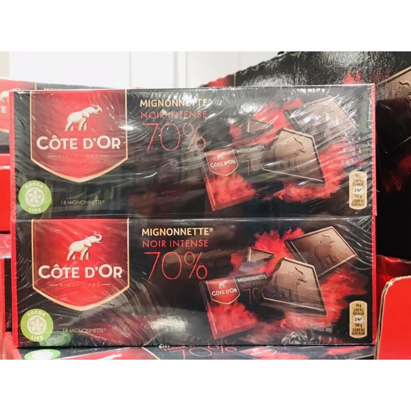 好市多代購 Cote D'OR 70%可可黑巧克力 180公克x2入 比利時巧克力 大象巧克力 黑巧克力