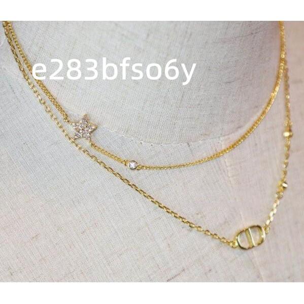 【M先生】DIOR(迪奧)雙層CD星星項鏈 女生配件 頸項鍊 精品
