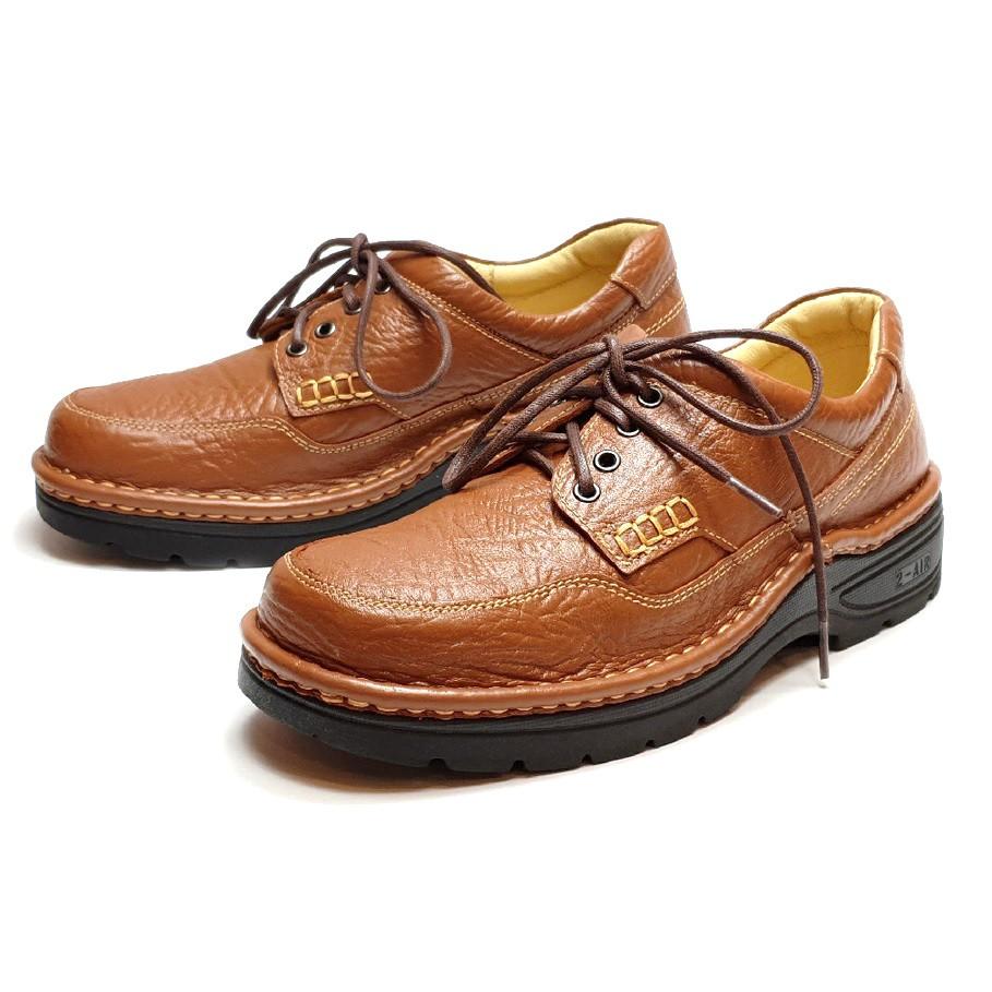 MIT真皮男鞋 休閒鞋 手工 寬楦 - 繫帶旅遊休閒鞋-棕