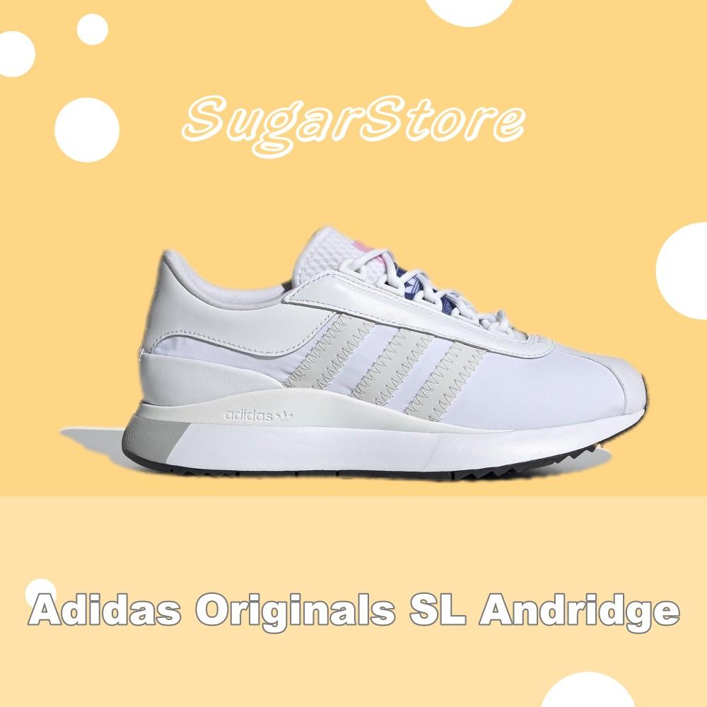69折🔻Sugar🍭Adidas Originals SL Andridge 白色 花卉 緞面 EG6846