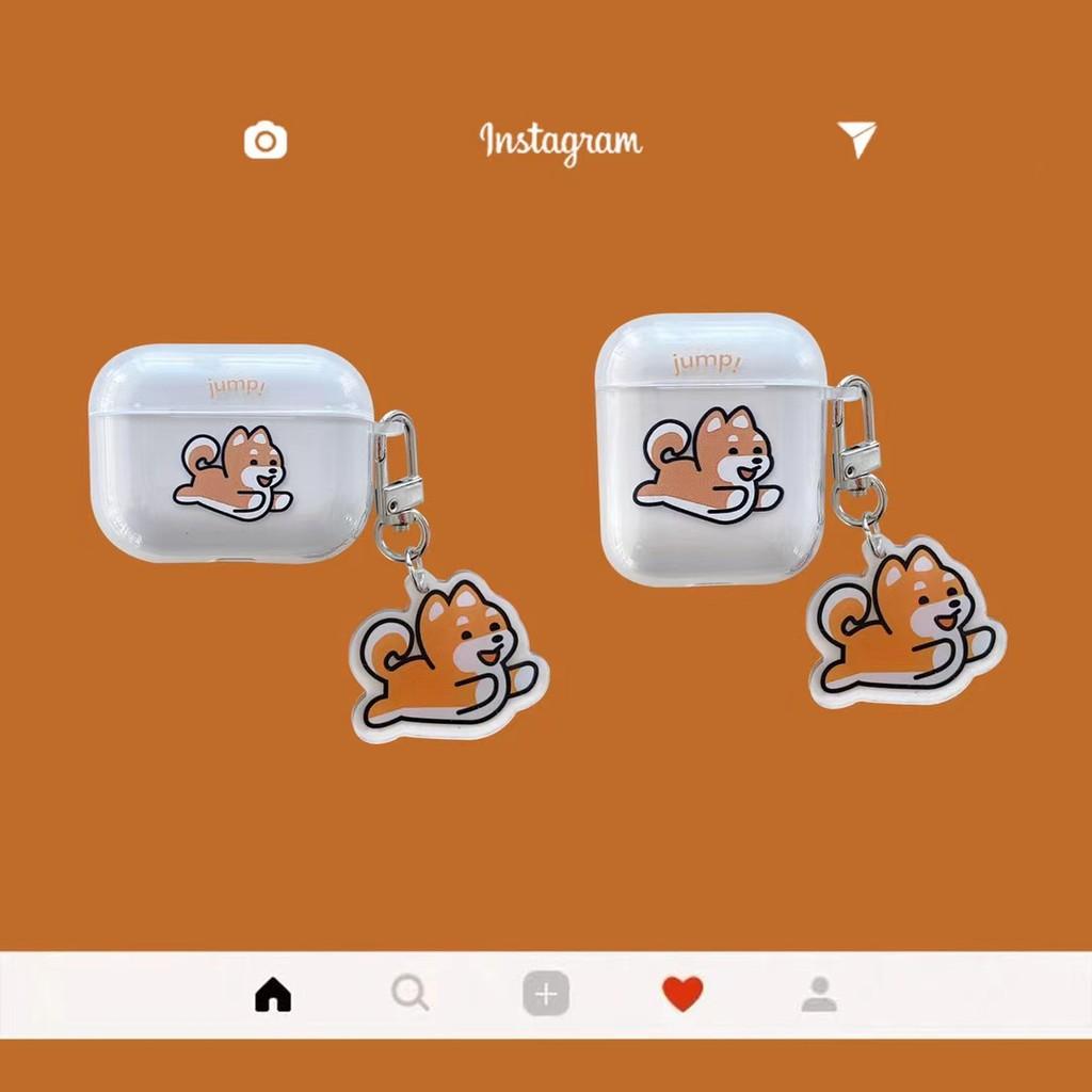 ⭐今日新款⭐ 🐕可愛卡通柴犬🐕 AirPods 1/2代 AirPods pro/3代 藍牙耳機保護套 TPU軟殼