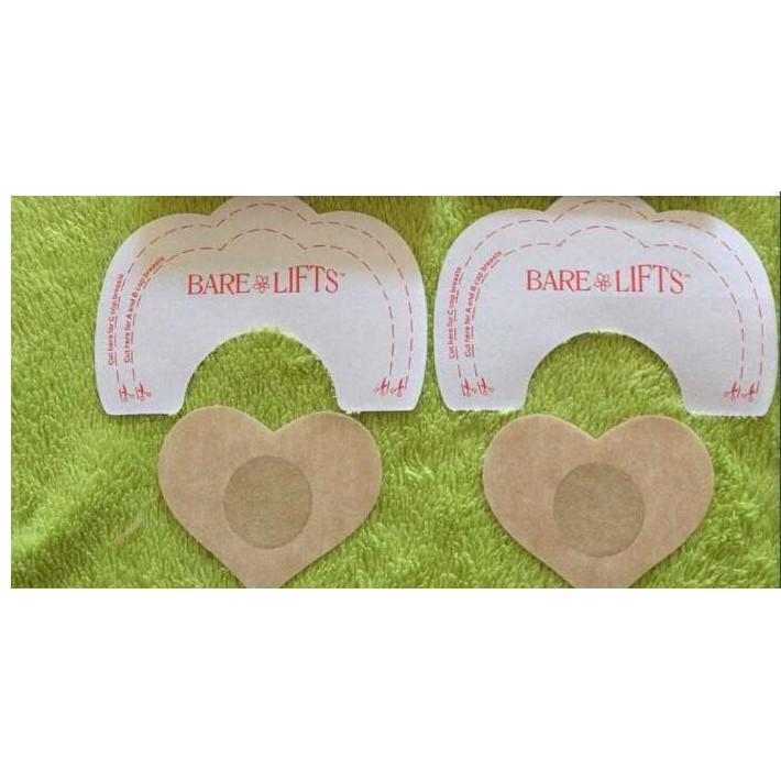 百分百--透明隱形提胸貼防下垂一次性胸貼乳貼 提胸貼 加防走光PP點貼 各1對入