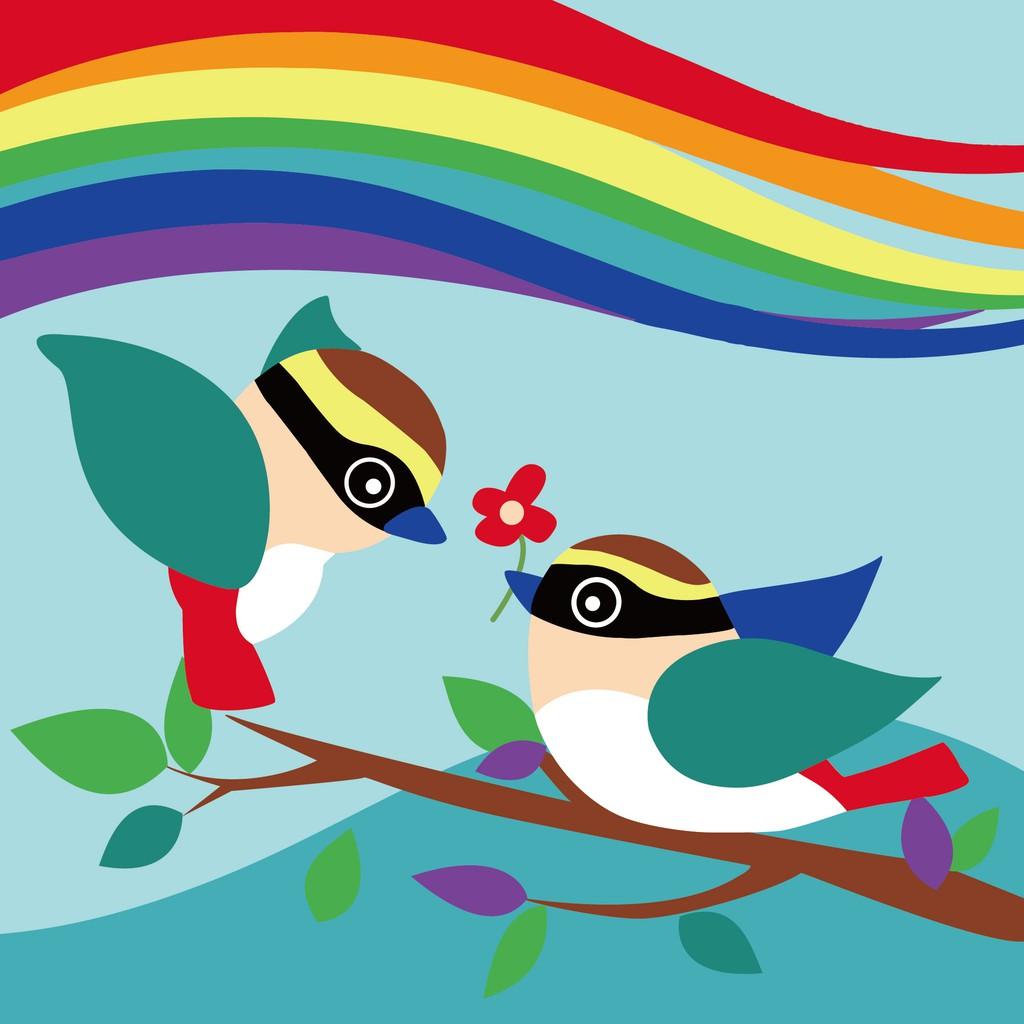 ArtLife 藝術生活 現貨 DIY 數字 油畫 彩繪 DR076 八色鳥 20X20cm