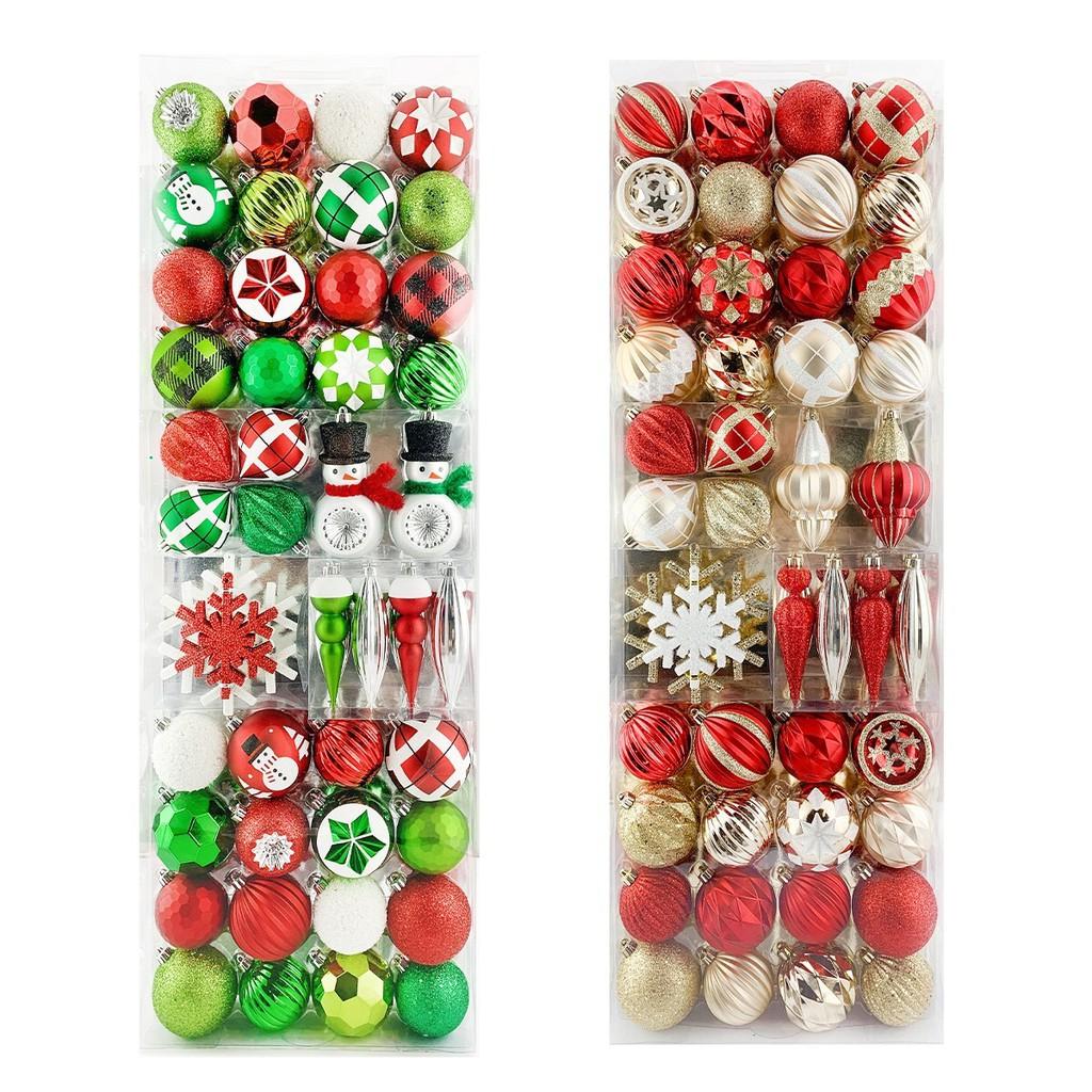 聖誕抗碎裝飾球 52入 聖誕飾品 聖誕樹掛飾 / COSTCO 好市多代購