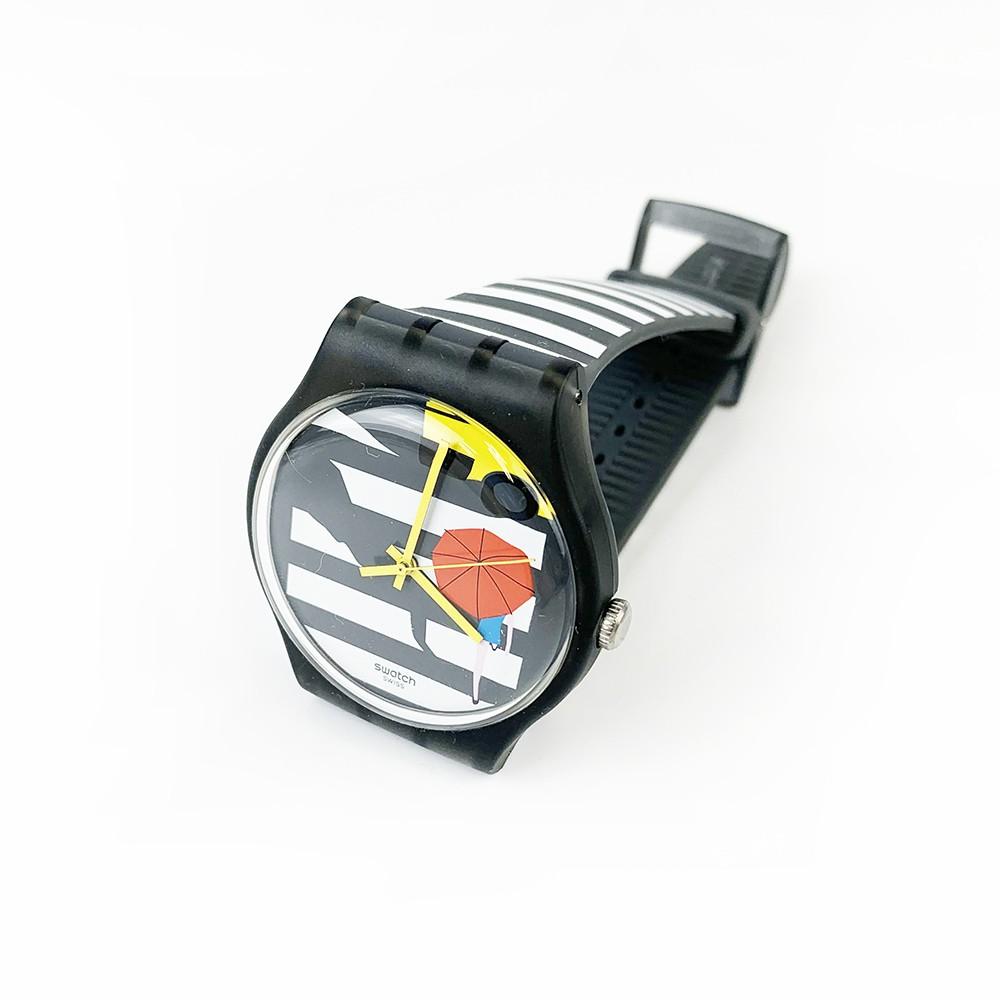 Swatch CROSS THE PATH 腕錶 手錶 黑白 SUOM108