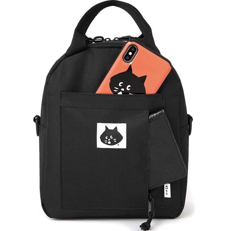 《 新品 》日韓 Nya Ne-net驚訝貓 CATN0001單肩斜跨包 雙肩後背包 手提包 休閒包